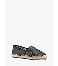 Kendrick Mesh Patent-Leather Slip-On Sneaker  by Michael Kors