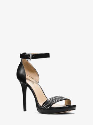 Shailene Leather Sandal  by Michael Kors