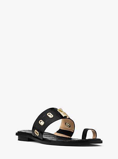 Sandalo Antoinette in pelle goffrata by Michael Kors