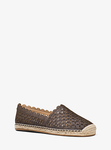 Alexis Perforated Logo Espadrille by Michael Kors