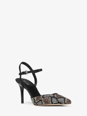 Ciara Embellished Leather Pump by Michael Kors