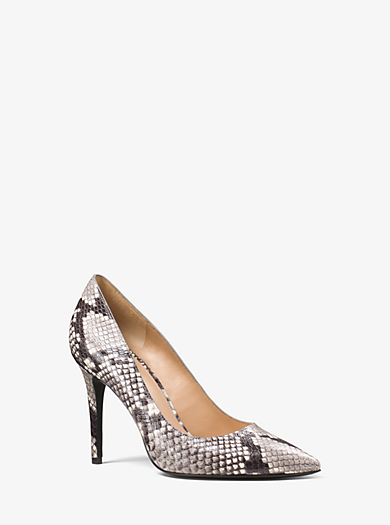 Claire Embossed-Leather Pump by Michael Kors