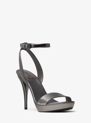 Catarina Metallic Leather Sandal by Michael Kors