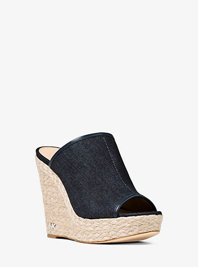 Wedge Hastings aus Jeansstoff by Michael Kors