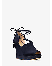 Hastings Lace-Up Suede Wedge