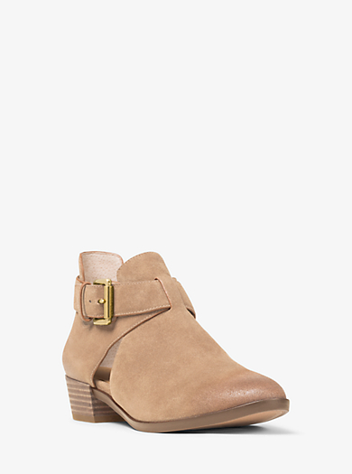 Mercer Cutout Suede Ankle Boot by Michael Kors