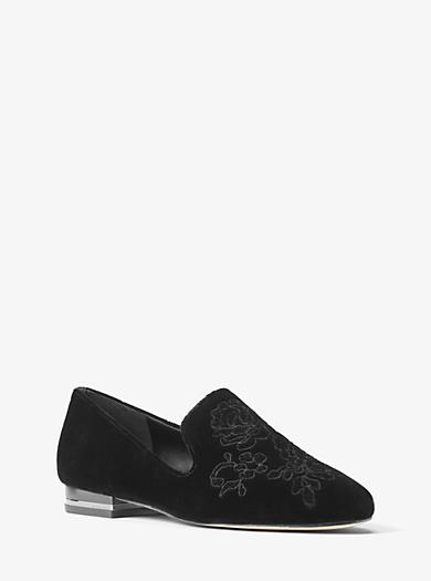 Natasha Embroidered Velvet Loafer by Michael Kors