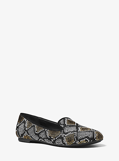 Natasha Embellished Suede Loafer by Michael Kors