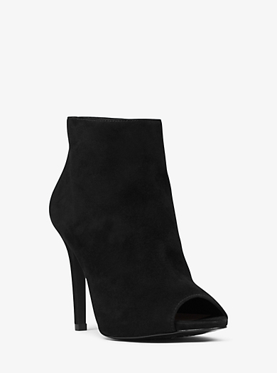 Whitley Open-Toe Suede Ankle Boot by Michael Kors