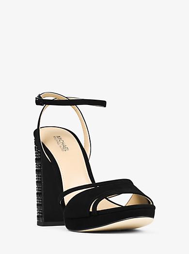 Yoonie Suede Sandal by Michael Kors