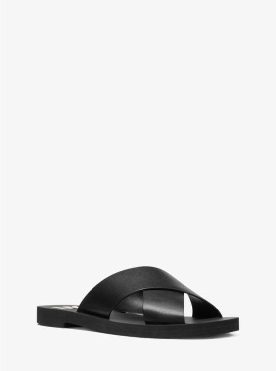 Glenda Leather Slide Sandal