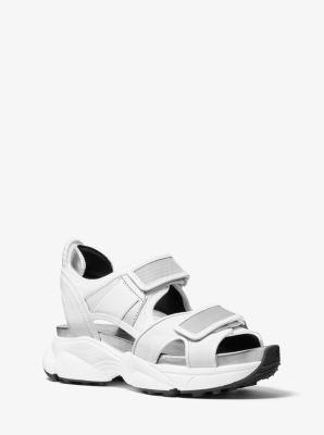 마이클 마이클 코어스 하비 스포츠 샌들 - 화이트 Michael Michael Kors Harvey Canvas and Mesh Sport Sandal,OPTIC WHITE