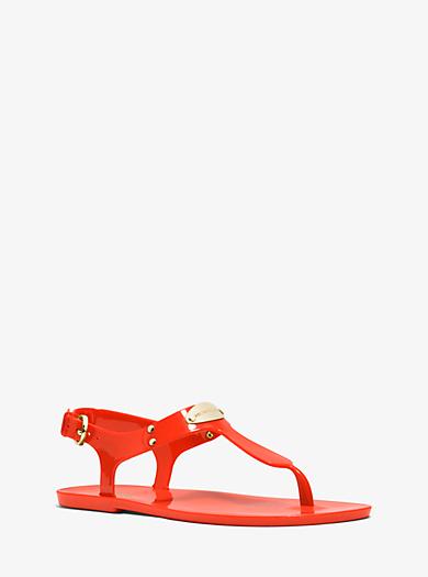 Jelly-Sandale mit Logoplakette by Michael Kors