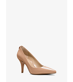 Flex Patent Leather Mid-Heel Pump