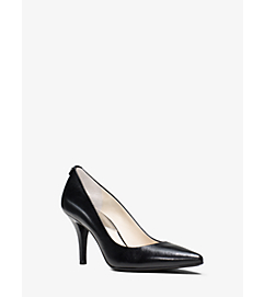 Flex Leather Mid-Heel Pump by Michael Kors