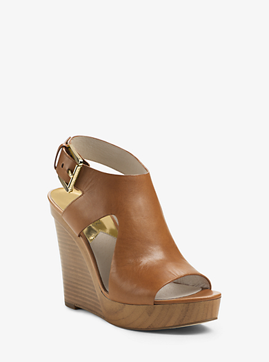 Josephine Leather Wedge by Michael Kors