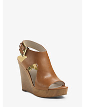 Josephine Platform Leather Wedge