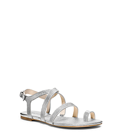 Arianna Metallic Metallic Leather Sandal