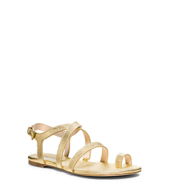 Arianna Metallic Metallic Leather Sandal
