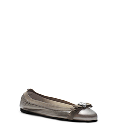 Dixie Metallic Leather Ballet Flat
