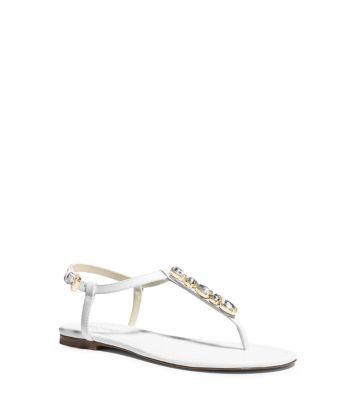 Jayden Embellished-Leather Sandal
