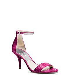 Kristen Embossed-Leather Sandal