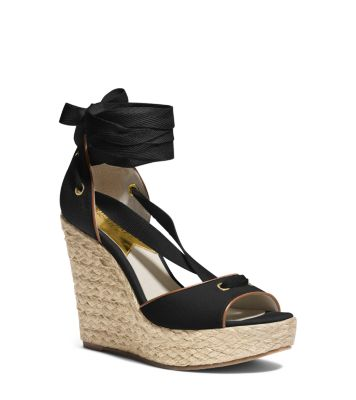 Lilah Canvas and Leather Wedge