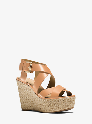 Celia Leather Wedge  by Michael Kors