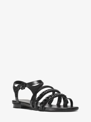 Jackie Leather Sandal  by Michael Kors