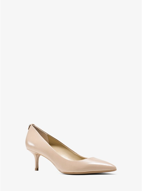 Flex Leather Kitten-Heel Pump | Michael Kors