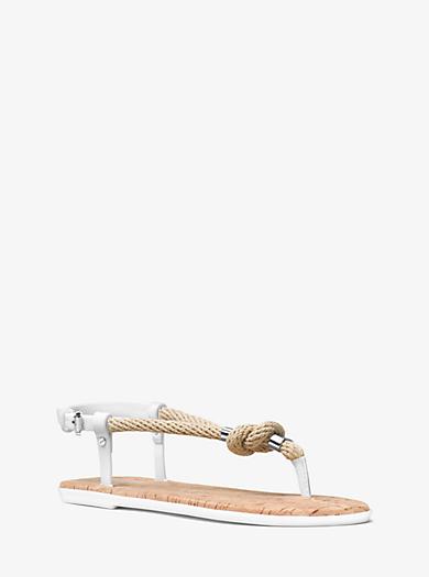 Holly Rope-Trim Sandal by Michael Kors