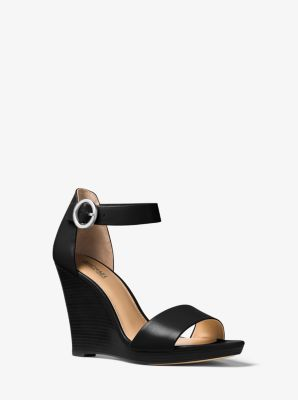 Lena Leather Wedge by Michael Kors