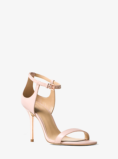 Madge Leather Cutout Sandal by Michael Kors