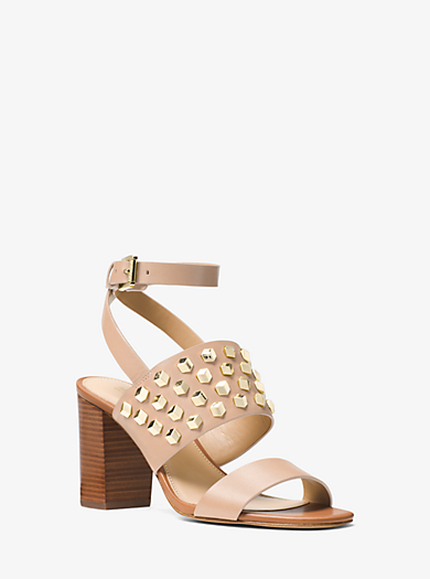 Valencia Studded Leather Sandal by Michael Kors