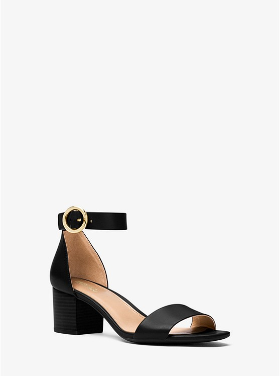 Lena Leather Sandal | Michael Kors