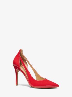 마이클 마이클 코어스 펌프스 Michael Michael Kors Cersei Patent Leather Cutout Pump,BRIGHT RED