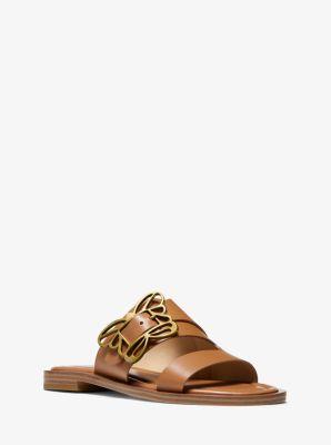 마이클 마이클 코어스 Michael Michael Kors Lyra Butterfly Embellished Leather Sandal