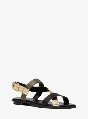마이클 마이클 코어스 Michael Michael Kors Mackay Tri-Color Sandal,PL GLD MULTI