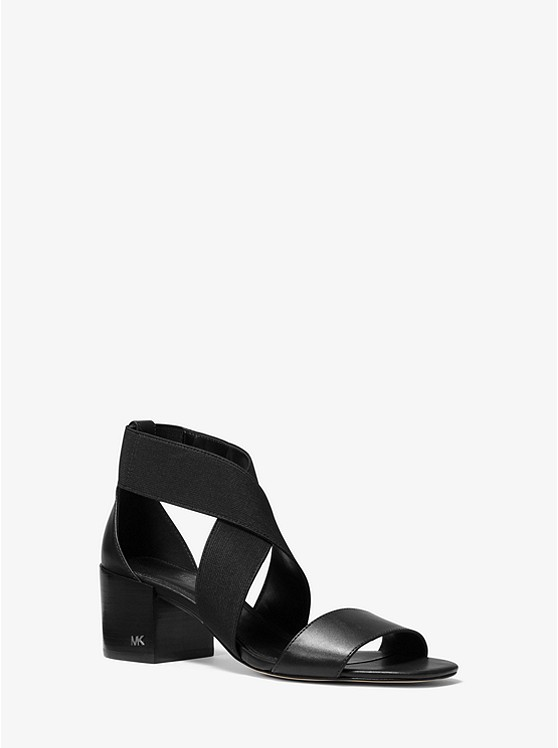 Meadow Elastic and Leather Sandal | Michael Kors