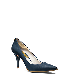 Flex Saffiano Leather Pump