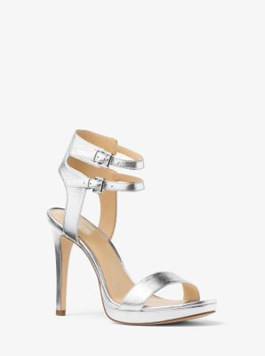 Ashby Metallic Leather Sandal  by Michael Kors