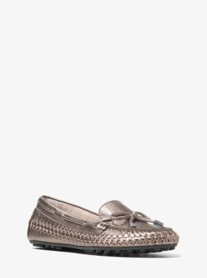 Daisy Woven Metallic Leather Moccasin by Michael Kors
