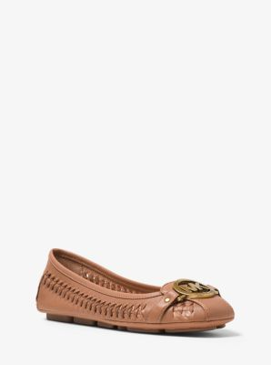 Fulton Woven-Leather Moccasin by Michael Kors