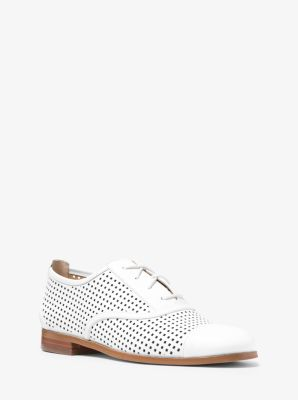 Libby Perforated-Leather Oxford  by Michael Kors