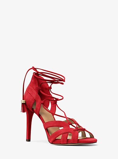 Mirabel Suede Sandal by Michael Kors