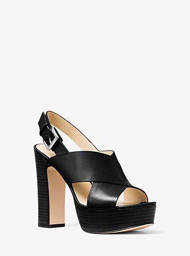 Mariana Leather Platform Sandal  by Michael Kors