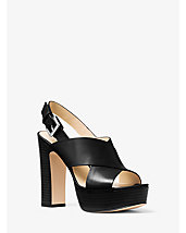 Mariana Leather Platform Sandal