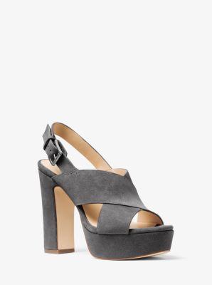 Mariana Suede Platform Sandal  by Michael Kors