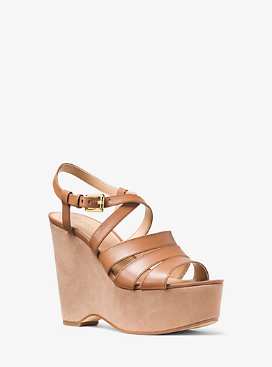 Mariana Leather and Suede Wedge  by Michael Kors