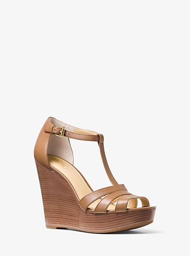 Sable Leather Wedge  by Michael Kors